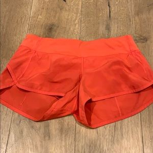 Lululemon Run Times Short size 6 - bright red